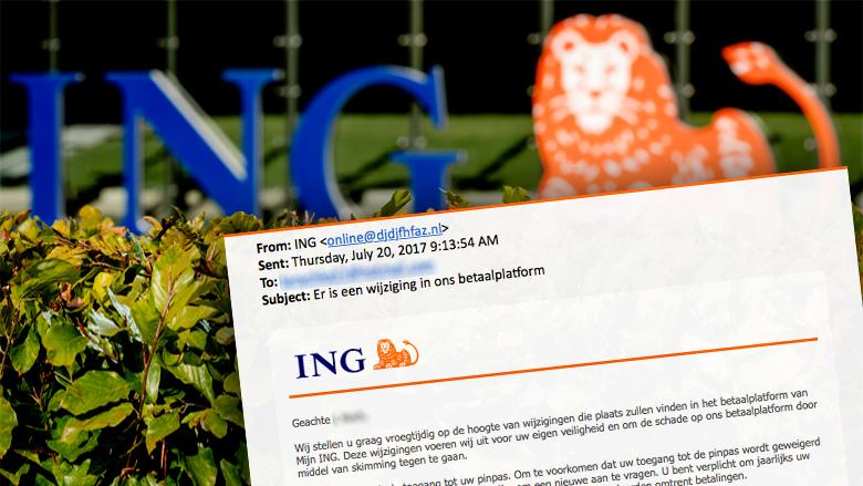 Pas op: gepersonaliseerde mail ING over wijziging in het betaalplatform is nep