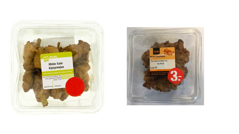 Kipspiesjes van diverse supermarkten teruggeroepen