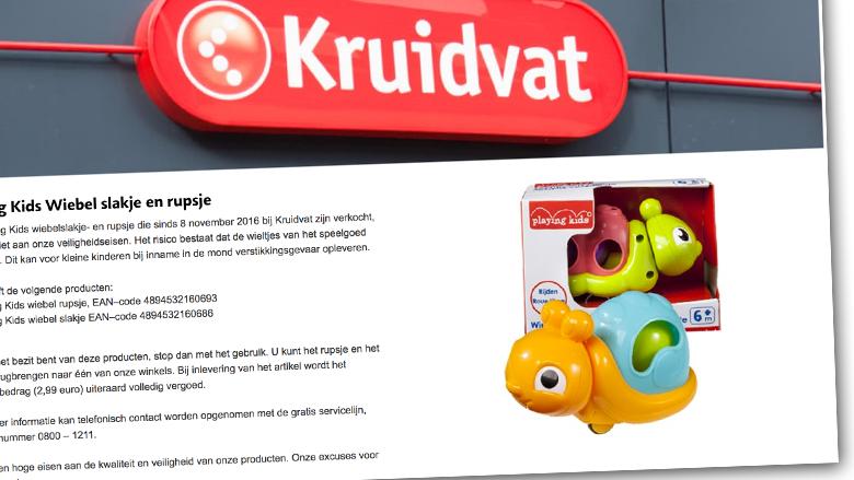 Waarschuwing: stikgevaar bij speelgoed Kruidvat en Trekpleister