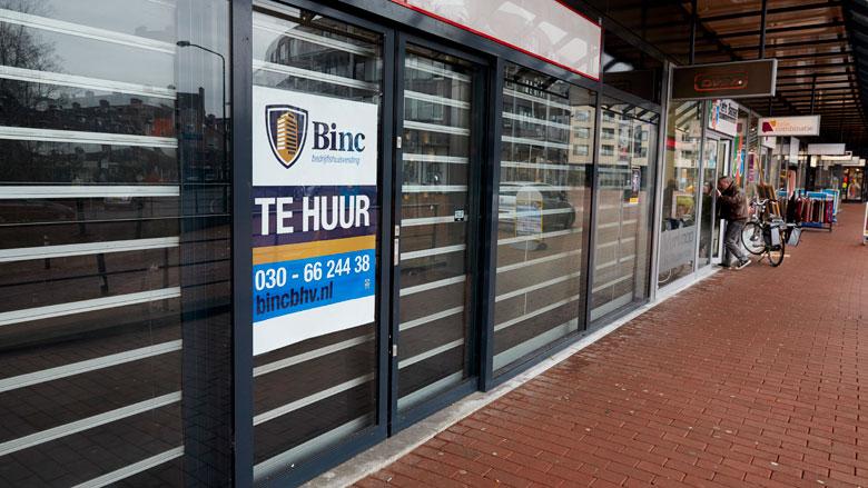 Winkelpanden in middelgrote steden blijven leegstaan