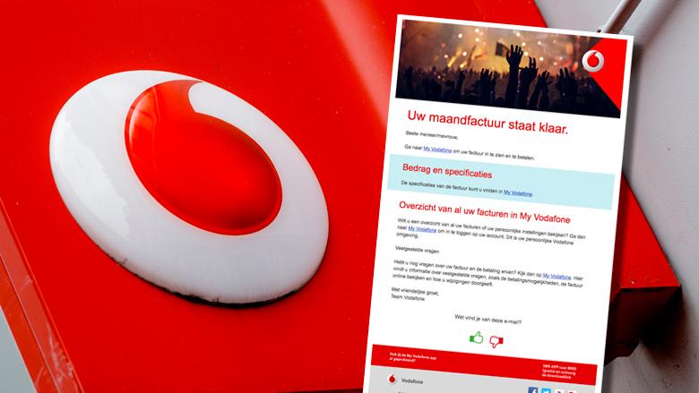 Pas op: valse mail over Vodafone maandfactuur