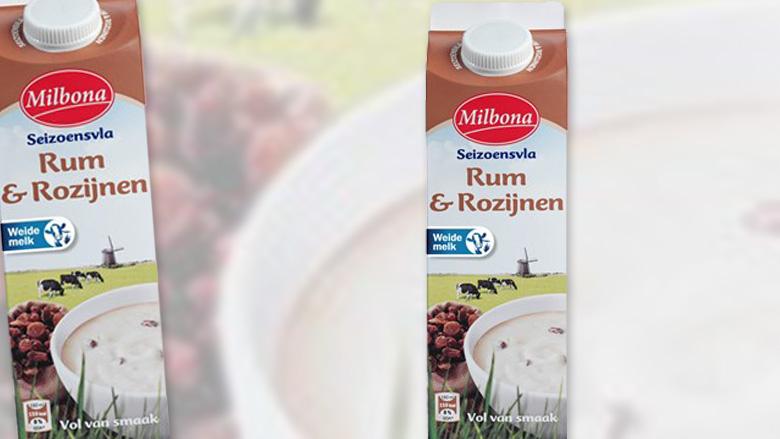 Rum/rozijnenvla kan bitterkoekjesvla zijn
