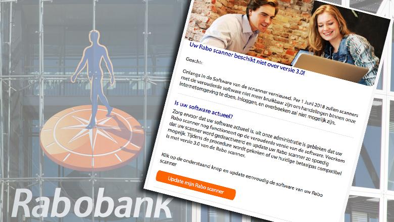 Let op: valse e-mail 'Rabobank' over Rabo Scanner