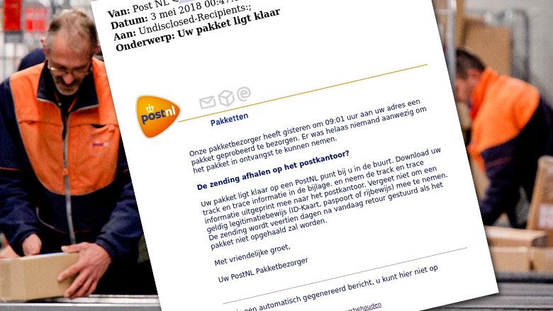 Let op: valse PostNL-mail over niet-afgeleverd pakket