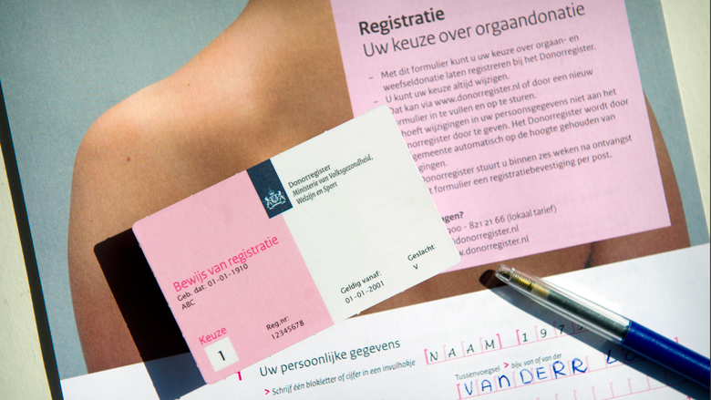 Bijna 2 miljoen Nederlanders geven expliciet aan dat ze geen donor willen zijn