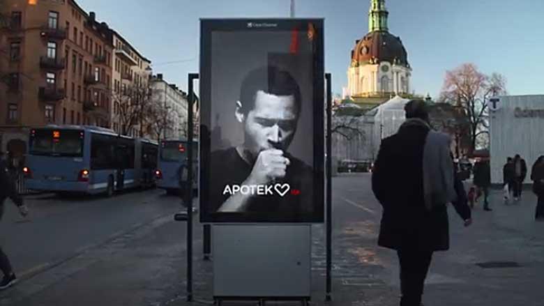 Zweedse poster confronteert met rokershoest