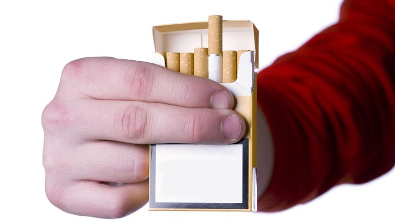 Blanco sigarettenpakjes in Noorwegen