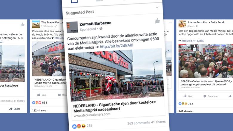 Nieuwe spamgolf op Facebook misbruikt Media Markt en andere merknamen