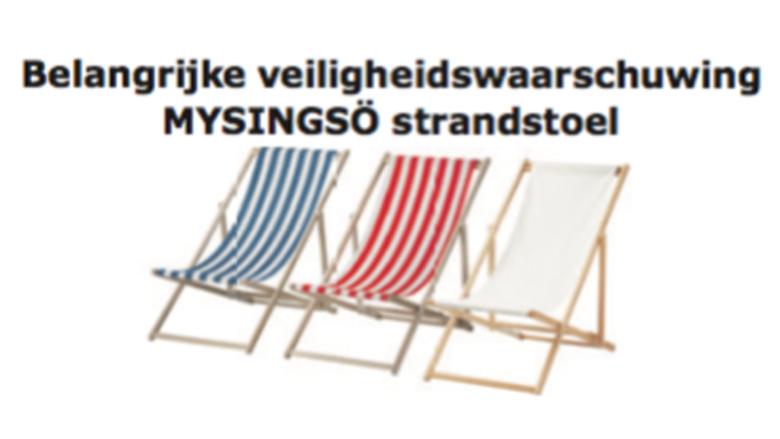 Veiligheidswaarschuwing: IKEA strandstoel