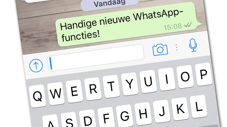 Nieuwe WhatsApp-functies voor iPhone-gebruikers