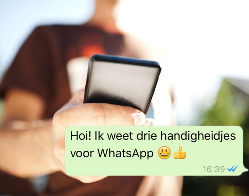 WhatsApp: 3 handigheidjes