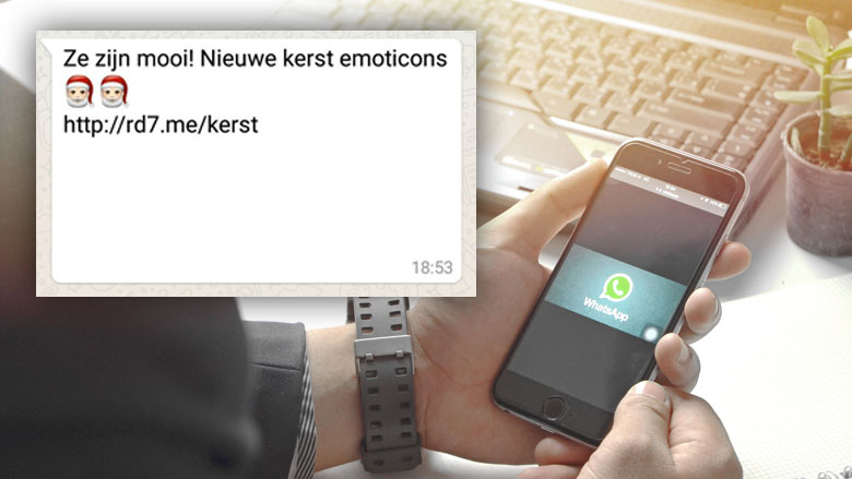 Nieuwe WhatsApp-hoax: 'Gratis kerst-emoji'
