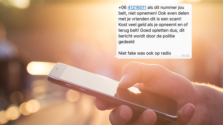 Trap niet in WhatsApp-kettingbericht over duur telefoontje van +0641216011