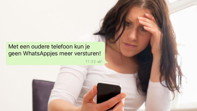 Geen WhatsApp meer op oudere telefoon