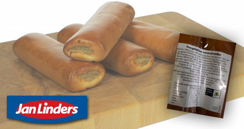Foute etiketten op worstenbroodjes supermarktketen Jan Linders