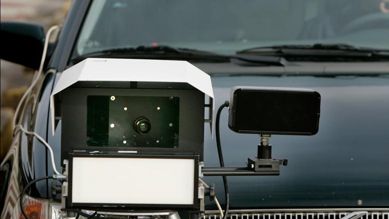 Weg scannen voor informatie zelfrijdende auto
