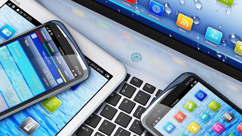 Smartphone en computer
