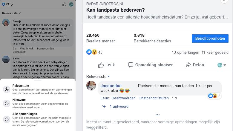 Opmerkingen op Facebook verborgen? Zo krijg je ze te zien