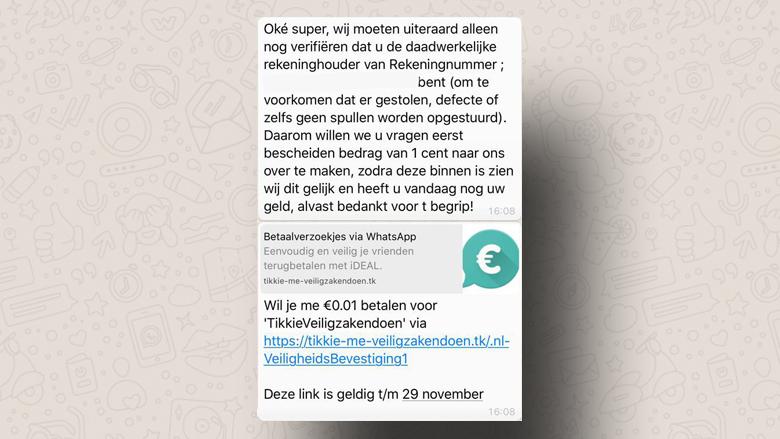Pas op voor phishing via betaalverzoeken