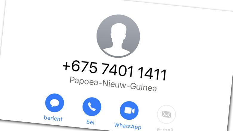 Wangiri-fraude: pas op voor +675-telefoontjes!