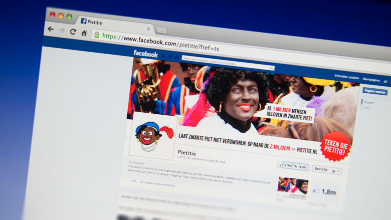 Facebook verwijdert grootste deel Zwarte Piet-pagina's