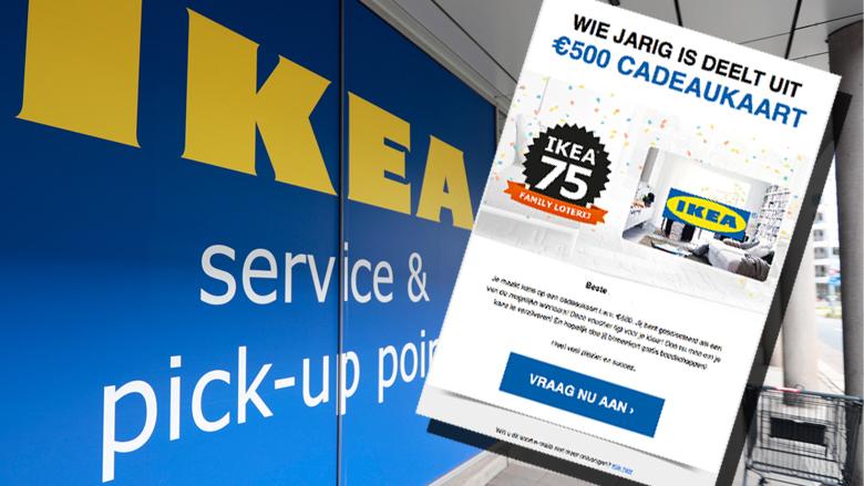 Let op: valse mail over IKEA-cadeaukaart in omloop