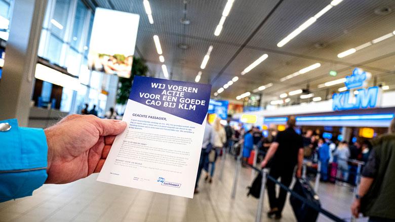Grondpersoneel KLM woensdag opnieuw in staking