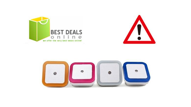 Best Deals Online waarschuwt voor mogelijk gevaar LED-nachtlampje