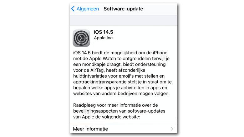 Bijwerken naar nieuwe iOS-versie