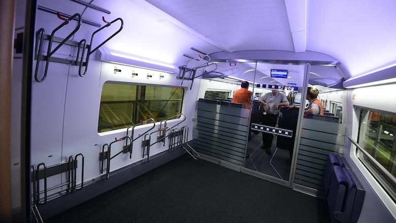 De ICE van Deutsche Bahn heeft een fietscompartiment
