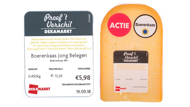Poepbacterie in boerenkaas van Dekamarkt en Poiesz