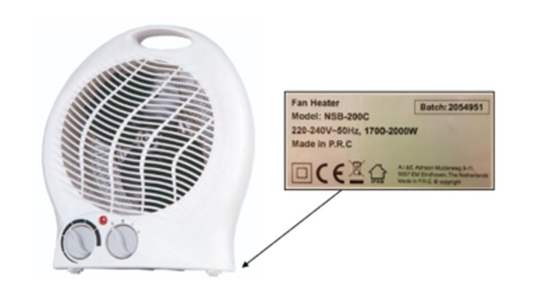 Waarschuwing voor brandgevaarlijke ventilatorkachel