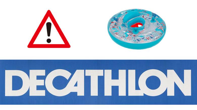 Decathlon waarschuwt voor probleem met opblaasbare peuterzitband
