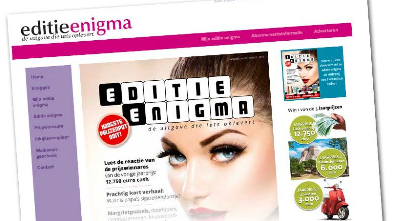 Boete voor puzzelblad Editie Enigma blijft