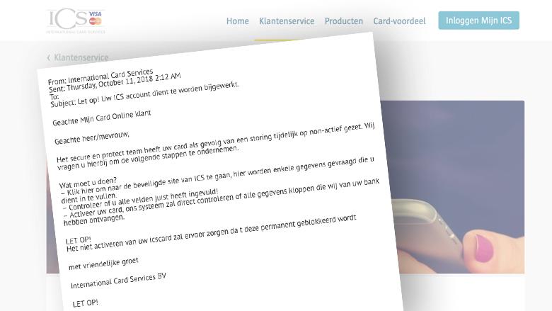 Trap niet in deze nep-ICS-mail over 'bijwerken van je account'
