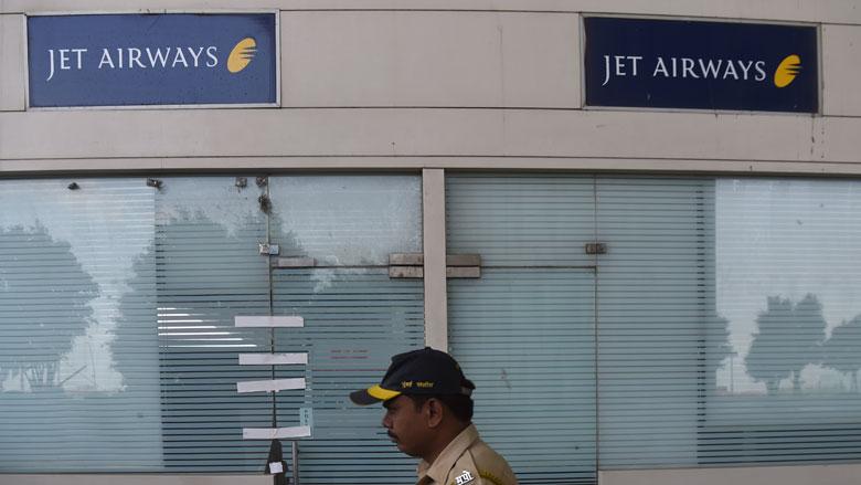 'Jet Airways is failliet verklaard'