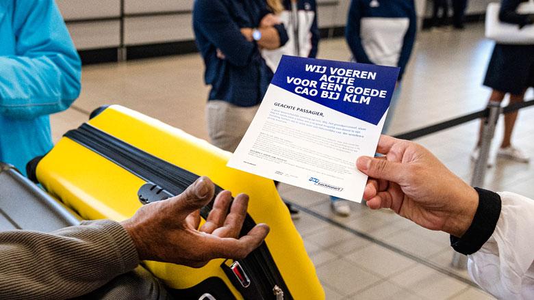 Vluchten uitgevallen door KLM-staking