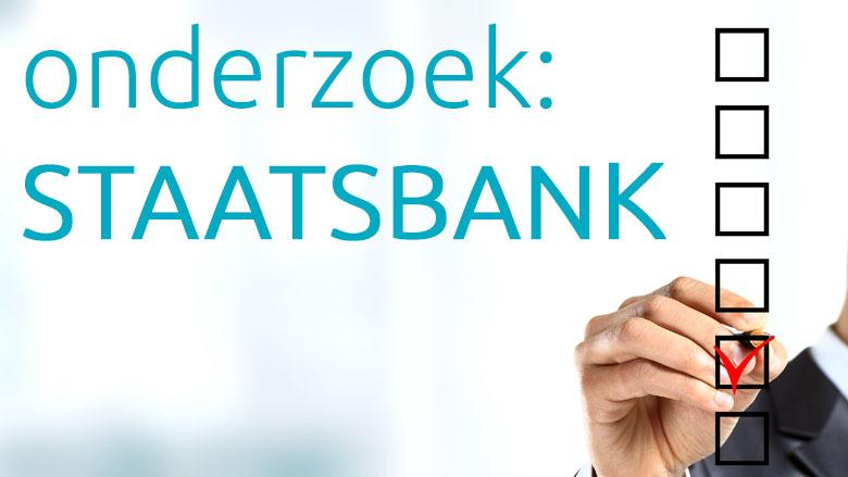 Groot draagvlak voor Nederlandse staatsbank