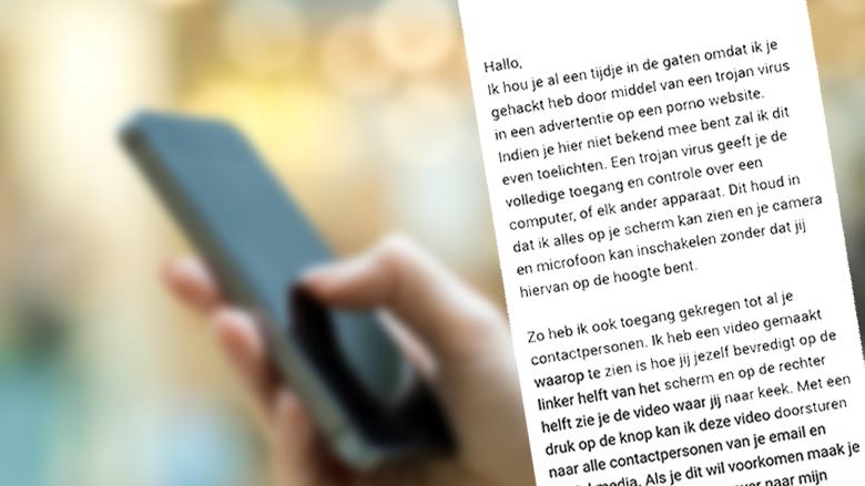 Let op: sms-bericht over bezoek aan pornosite is nep