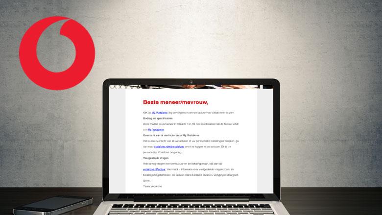Valse mail uit naam van Vodafone over online factuur