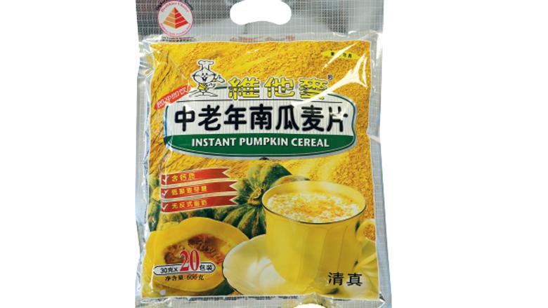 Waarschuwing voor Pumpkin Cereal van Amazing Oriental