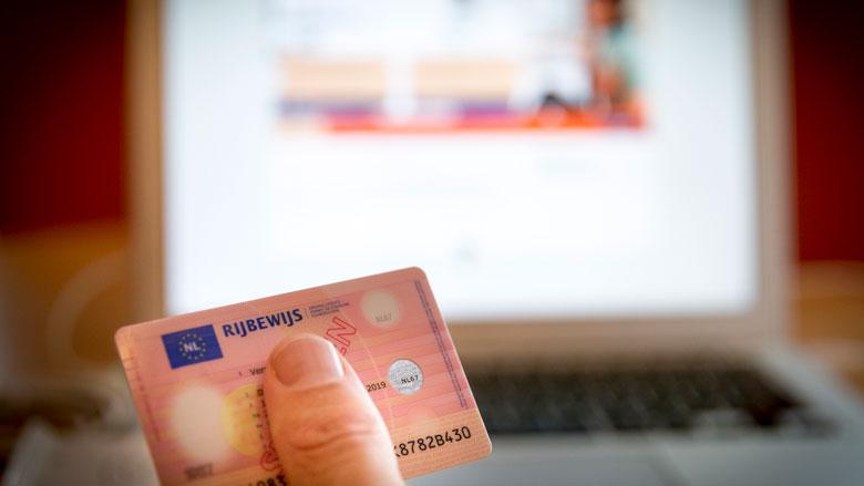 Proef met online verlengen rijbewijs