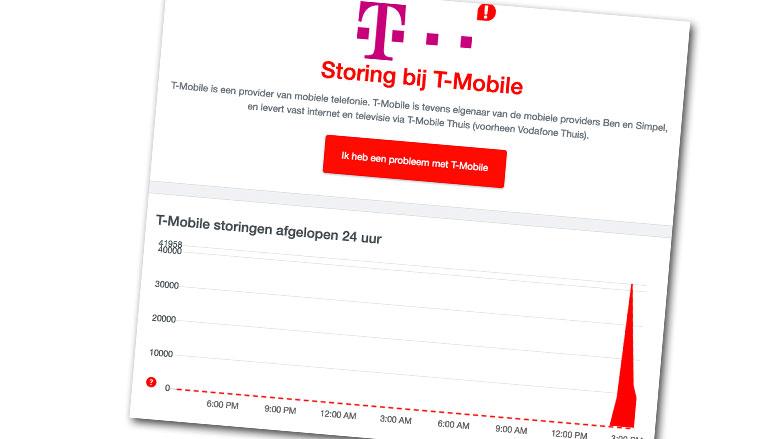 Storing bij T-Mobile voorbij: problemen met bellen en internet opgelost