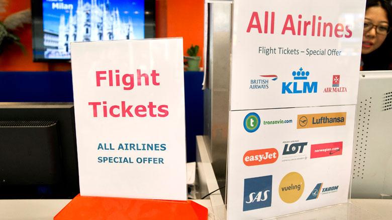 Duurdere vliegtickets zorgen voor stijging van gemiddelde consumentenprijzen