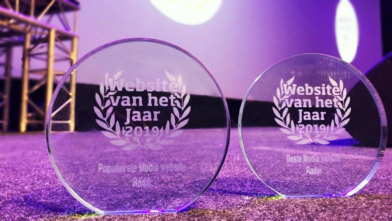 Radar valt in de prijzen bij Website van het Jaar