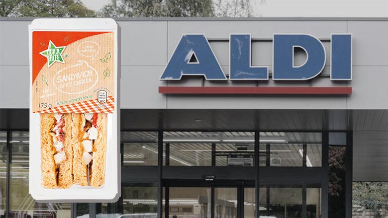 'Sandwich Spicy Chicken van Aldi bevat mogelijk Listeria'